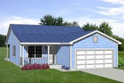 Farmhouse Style House Plan - 3 Beds 2 Baths 1216 Sq/Ft Plan #116-263 Exterior - Front Elevation