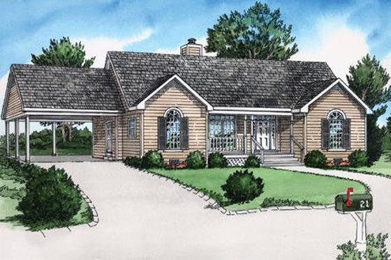 Traditional Exterior - Front Elevation Plan #16-240