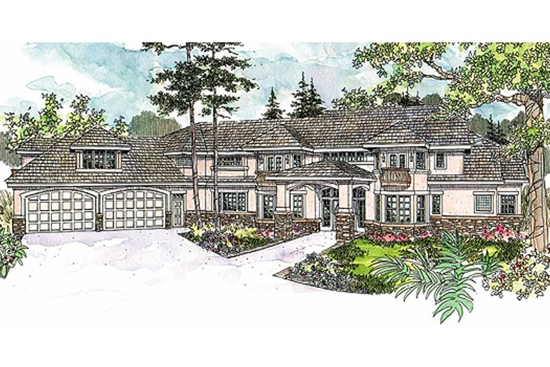 European Exterior - Front Elevation Plan #124-603 - Houseplans.com