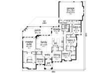 Tudor Floor Plan - Main Floor Plan Plan #84-601