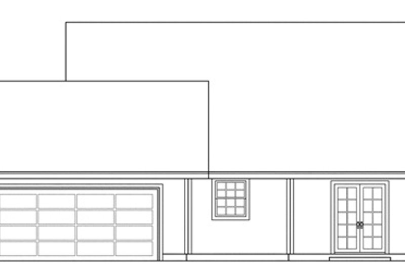 Farmhouse Exterior - Rear Elevation Plan #124-308 - Houseplans.com