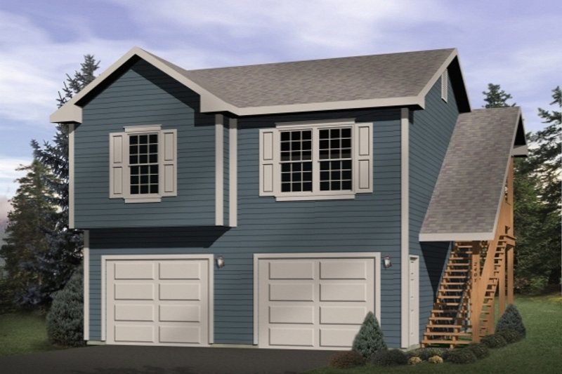 Traditional Style House Plan - 1 Beds 1 Baths 701 Sq/Ft Plan #22-461