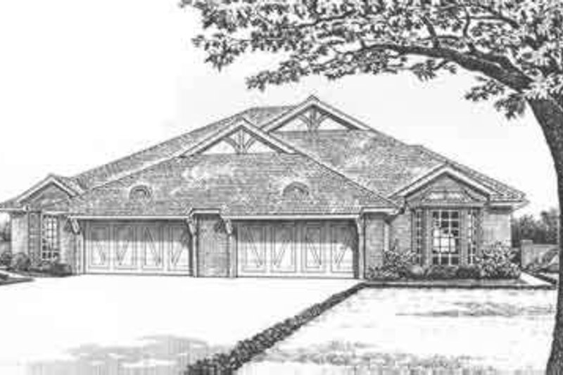 Tudor Style House Plan - 3 Beds 2 Baths 3844 Sq/Ft Plan #310-468 Exterior - Front Elevation