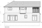 Craftsman Style House Plan - 3 Beds 3 Baths 2152 Sq/Ft Plan #126-158 Exterior - Rear Elevation