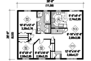Country Style House Plan - 3 Beds 1 Baths 1064 Sq/Ft Plan #25-4829 Floor Plan - Main Floor Plan