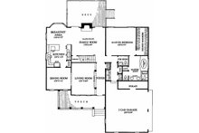 Southern Floor Plan - Main Floor Plan Plan #137-212