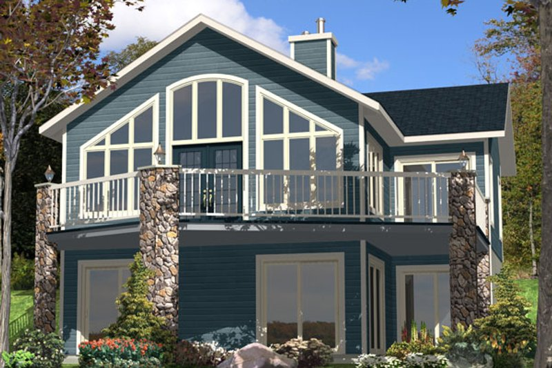 Contemporary Style House Plan - 3 Beds 2 Baths 2256 Sq/Ft Plan #138-362 Exterior - Front Elevation