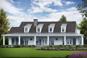 Ranch Exterior - Front Elevation Plan #54-400