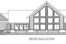 European Exterior - Rear Elevation Plan #117-181