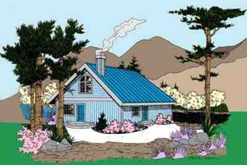 Traditional Exterior - Front Elevation Plan #60-633 - Houseplans.com