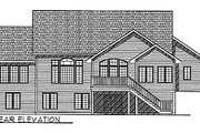 Traditional Style House Plan - 2 Beds 2 Baths 2120 Sq/Ft Plan #70-311 Exterior - Rear Elevation