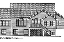 Dream House Plan - Traditional Exterior - Rear Elevation Plan #70-311
