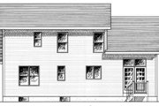 Traditional Style House Plan - 3 Beds 2.5 Baths 1493 Sq/Ft Plan #316-105 Exterior - Rear Elevation