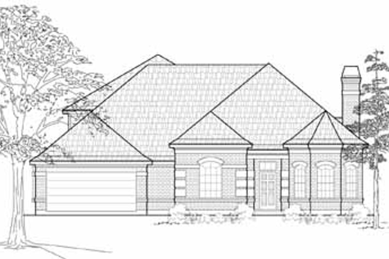Traditional Exterior - Front Elevation Plan #61-216