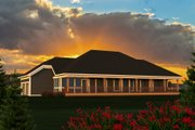 Ranch Style House Plan - 3 Beds 2.5 Baths 1807 Sq/Ft Plan #70-1191 Exterior - Rear Elevation