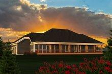 Dream House Plan - Ranch Exterior - Rear Elevation Plan #70-1191