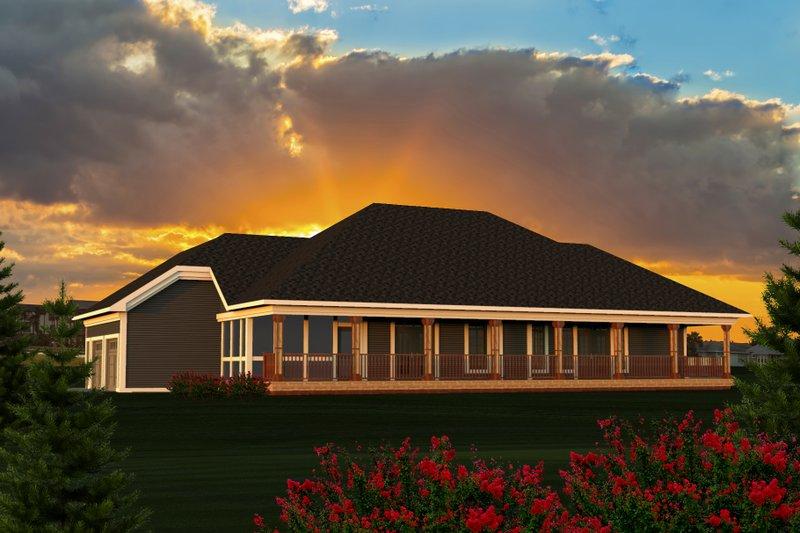 Ranch Exterior - Rear Elevation Plan #70-1191 - Houseplans.com