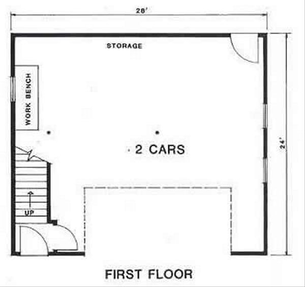 Country Floor Plan - Main Floor Plan Plan #116-229