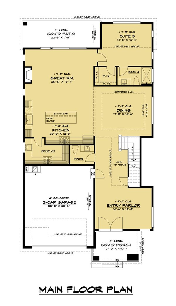 House Design - Contemporary Floor Plan - Main Floor Plan #1066-131