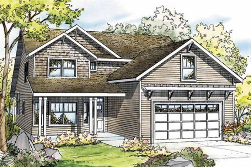 Craftsman Exterior - Front Elevation Plan #124-820