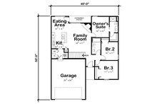 Traditional Floor Plan - Main Floor Plan Plan #20-2352