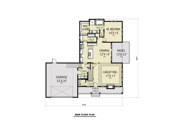 Farmhouse Floor Plan - Main Floor Plan Plan #1070-87
