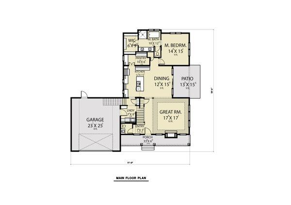 House Plan Design - Farmhouse Floor Plan - Main Floor Plan #1070-87