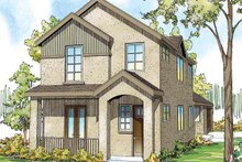 House Plan Design - European Exterior - Front Elevation Plan #124-876