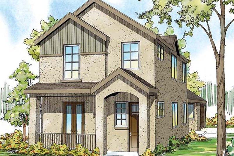 Home Plan - European Exterior - Front Elevation Plan #124-876