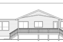 Ranch Exterior - Rear Elevation Plan #124-883
