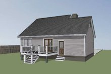 Dream House Plan - Traditional Exterior - Rear Elevation Plan #79-148