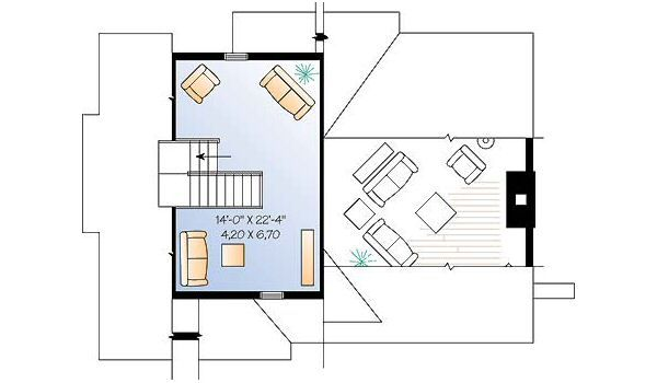 Traditional Floor Plan - Upper Floor Plan Plan #23-453
