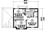 European Style House Plan - 3 Beds 1 Baths 1300 Sq/Ft Plan #25-4784 Floor Plan - Upper Floor Plan