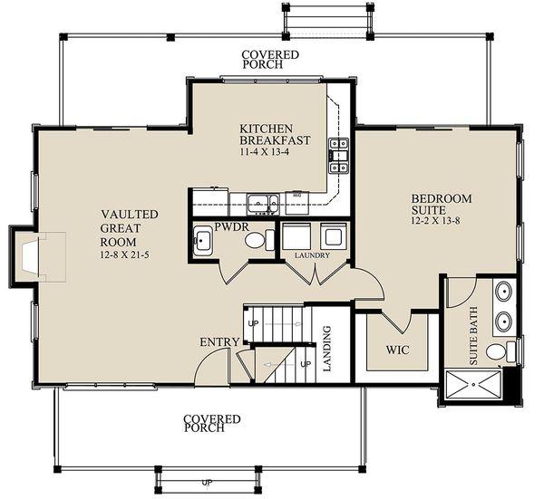 Cottage Floor Plan - Main Floor Plan Plan #921-2
