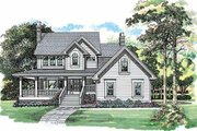 Country Style House Plan - 3 Beds 2.5 Baths 1924 Sq/Ft Plan #47-943 Exterior - Front Elevation