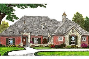 European Exterior - Front Elevation Plan #310-669
