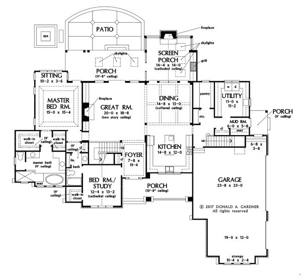 Ranch Floor Plan - Main Floor Plan #929-1087