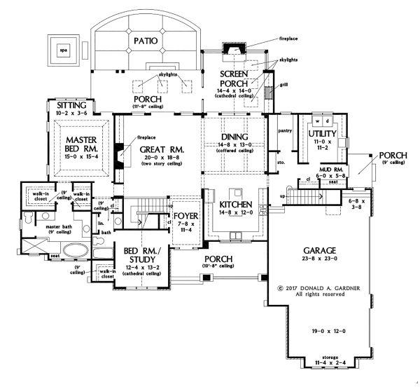 Ranch Floor Plan - Main Floor Plan Plan #929-1087