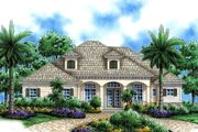 Mediterranean Style House Plan - 4 Beds 3 Baths 2855 Sq/Ft Plan #27-404 Exterior - Front Elevation