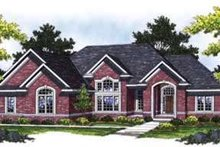 Dream House Plan - European Exterior - Front Elevation Plan #70-839