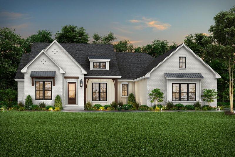 Dream House Plan - Farmhouse Exterior - Front Elevation Plan #430-220