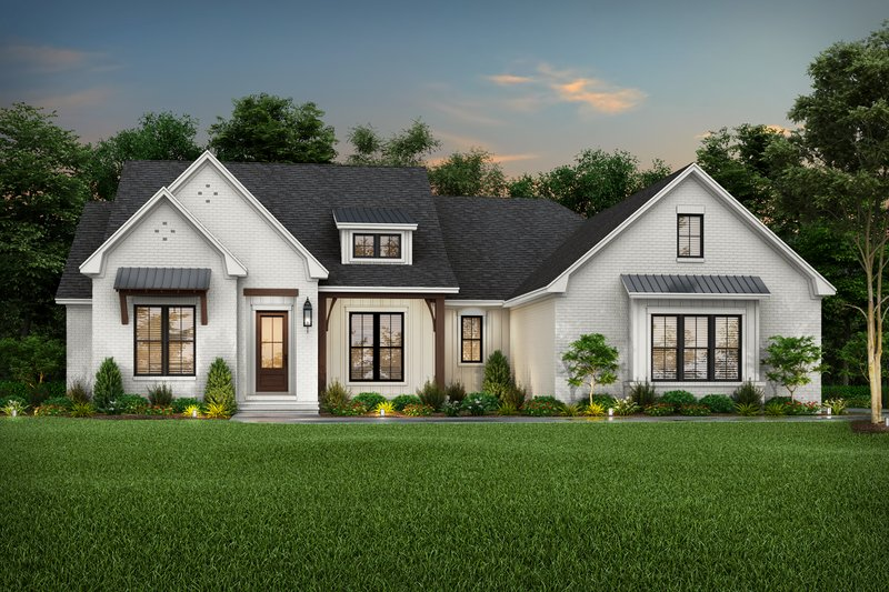 Farmhouse Style House Plan - 4 Beds 3 Baths 2608 Sq/Ft Plan #430-220 Exterior - Front Elevation