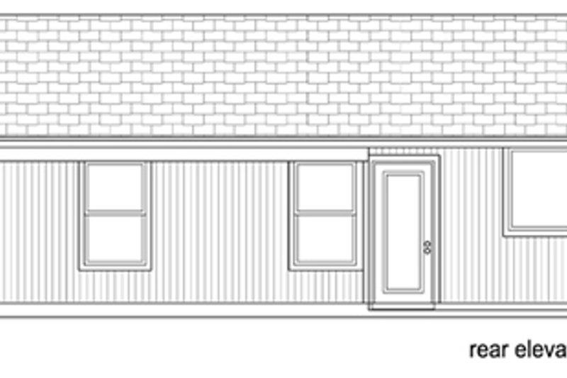 Modern Exterior - Rear Elevation Plan #84-515 - Houseplans.com