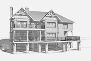 Craftsman Style House Plan - 4 Beds 4.5 Baths 5736 Sq/Ft Plan #123-114 Exterior - Rear Elevation