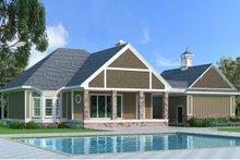 Home Plan Design - Southern Exterior - Rear Elevation Plan #45-571