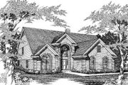 European Style House Plan - 5 Beds 2.5 Baths 3079 Sq/Ft Plan #329-131 Exterior - Front Elevation