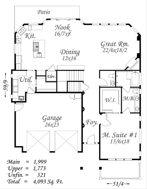 Prairie Floor Plan - Main Floor Plan Plan #509-18