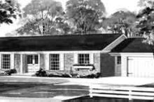 Southern Exterior - Front Elevation Plan #72-311