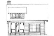 Cottage Style House Plan - 3 Beds 2.5 Baths 1997 Sq/Ft Plan #72-126 Exterior - Rear Elevation
