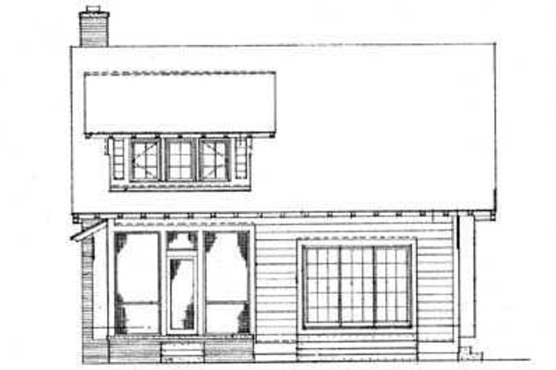 Cottage Exterior - Rear Elevation Plan #72-126 - Houseplans.com